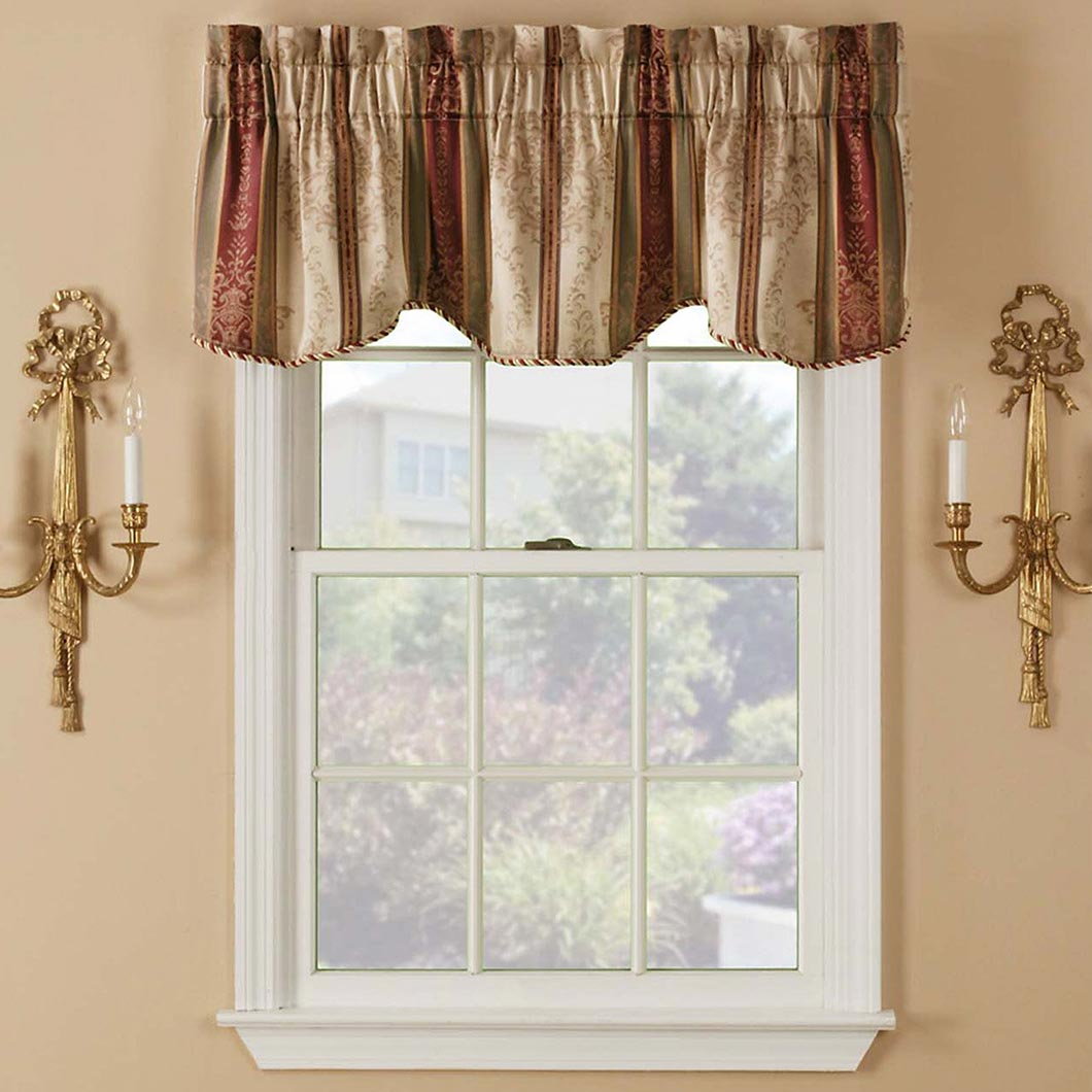 Rod Pocket Shirred Valance