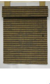 #41 DESIGNER WOVEN WOOD SHADE (NEW– WITH HARDWARE)