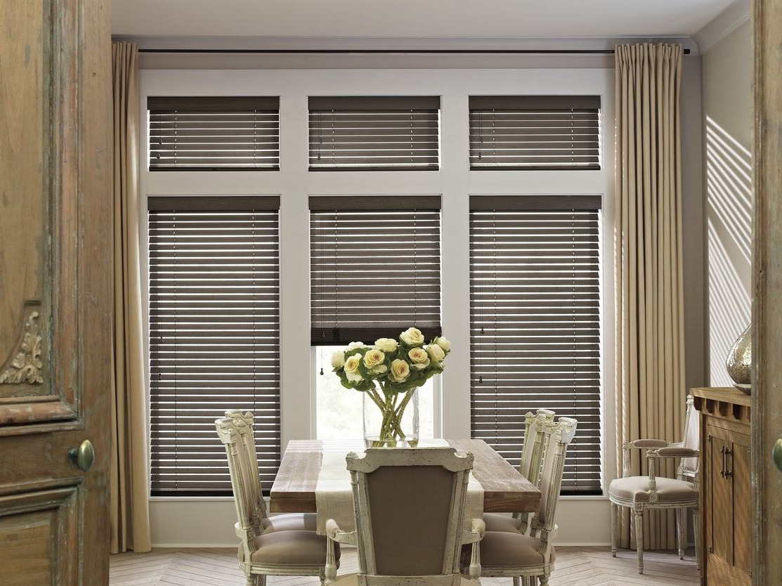 blinds douglas products finishes wood hunter finish portfolioslarge chalet true hunterdouglas specialty woods in distressed available are portfolios